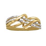 diamond double swirl ring 12
