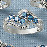 london blue topaz swirl ring