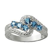london blue topaz swirl ring