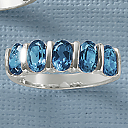 london blue topaz 5 stone ring