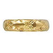 14k gold nano 6mm criss cross band