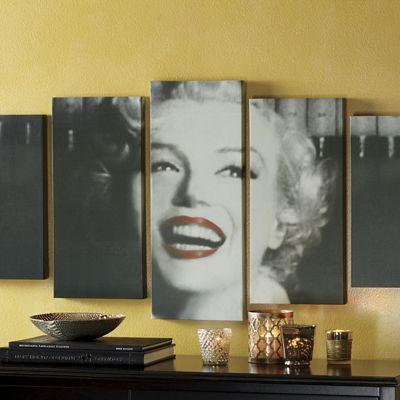5-Piece Marilyn Monroe Canvas Set