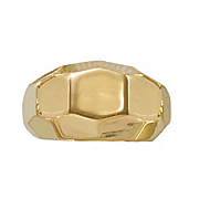 14k gold nano faceted ring