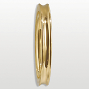 14k gold nano 8mm concave bangle