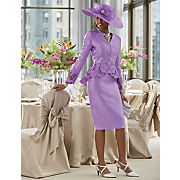 Jazlynn Hat and Skirt Suit