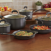 10 pc  hard anodized cookware set by the pioneer woman