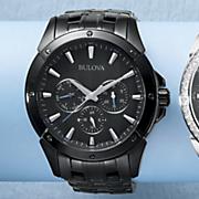 men s black bracelet watch by bulova 4