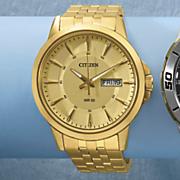 men s classic goldtone watch by citizen