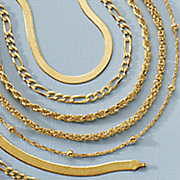 gold over sterling silver 24  byzantine necklace