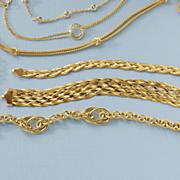 gold over sterling silver woven bracelet