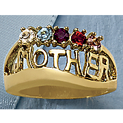 10k gold family name ring