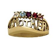 10k gold family name ring