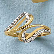diamond 2 swirl ring