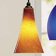 art glass carson pendant light by design house