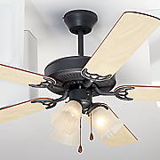 3 light 52  black oak finish ceiling fan by design house
