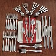 42 pc  eve flatware set by oneida
