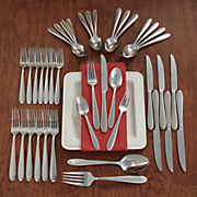 42 pc  eve flatware set by oneida
