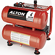 portable 4 gallon twin tank oil free air compressor by alton
