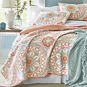 serenity coral quilt