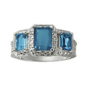 london blue topaz 3 stone ring