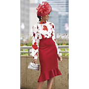 Ange Fascinator, Ange Blouse and Emmie Ruffle Skirt