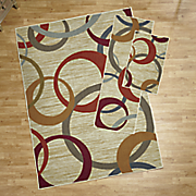 3 pc  picturale rug set