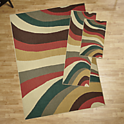 3 pc  wave impression rug set
