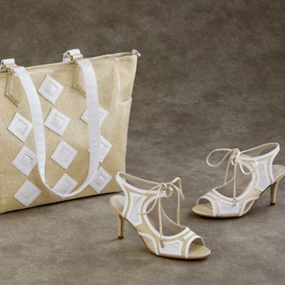 Kendra Tote and Peep-Toe Sandal
