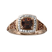 crystal halo ring