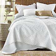 pom pom oversized quilt and sham