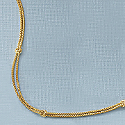 gold over sterling silver dual strand station necklace