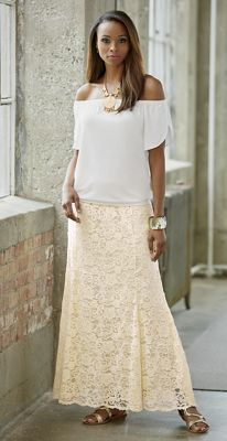 Patty Top and Amira Lace Maxi Skirt
