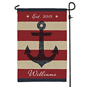 personalized summer anchor garden flag