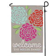 lovely flowers personalized garden flag