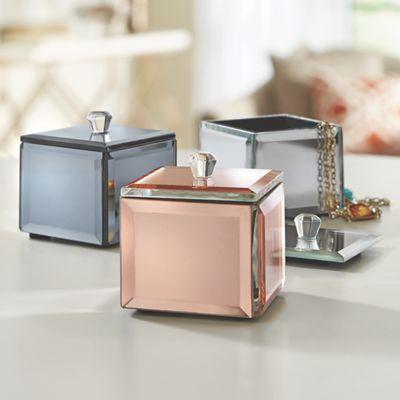 Set of 3 Metallic Trinket Boxes