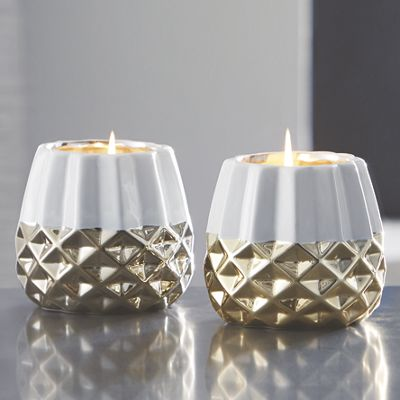 Geo Mod Faceted Candle
