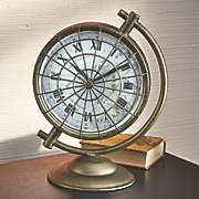 gold compass table clock