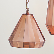 small rose gold pendant lamp