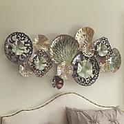 Green-Tone Metal Circle Wall Hanging