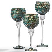 set of 3 mosaic votives