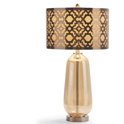 Patterned Shade Table Lamp