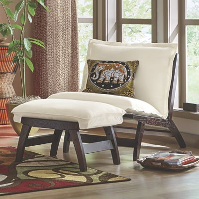 Casual Folding Chair And Ottoman From Midnight Velvet Vw746515