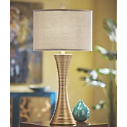 gold ring table lamp