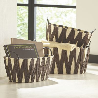 Set of 3 Woven Baskets