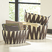 set of 3 woven baskets 84