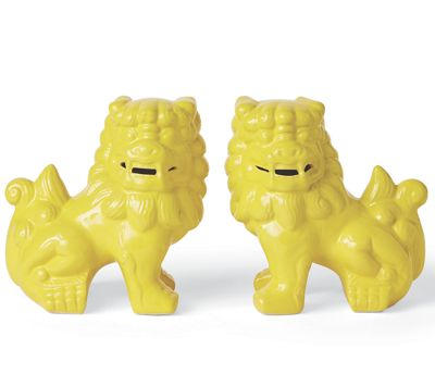 Set of 2 Yellow Foo Dogs