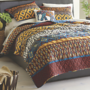 calypso quilt  sham and elephant pillow