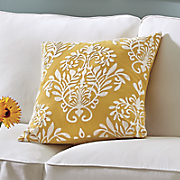 sunny crewelwork pillow
