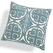 empire embroidered pillow