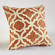 basque embroidered pillow cover
